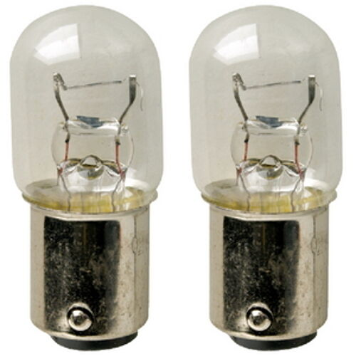 2 Pack of #1004 Double Contact Bayonet Replacement Incandescent Bulbs for Boats