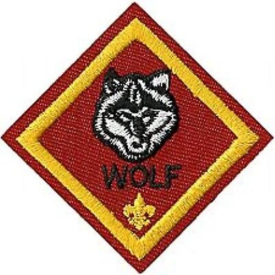 Cub Scout WOLF RANK Merit Badge Patch - Boy Scout BSA
