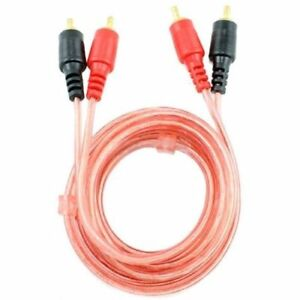 Rca speaker cable ebay 6 ft 2 rca jack stereo dual rca audio speaker male to male patch cable red keyboard keysfo Choice Image