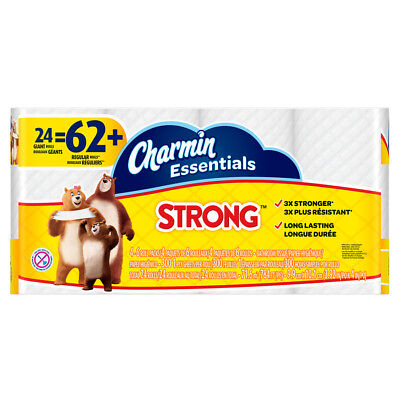 Charmin 24-Pack Strong Toilet Paper Bath Tissue Double Roll Long Lasting New