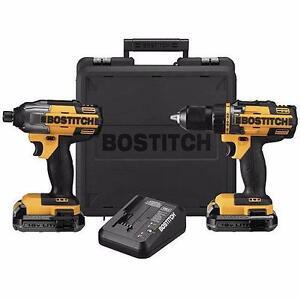 BOSTITCH BTCK410L2 combo perceuse et impact 18 volts lithium neuffffffffff