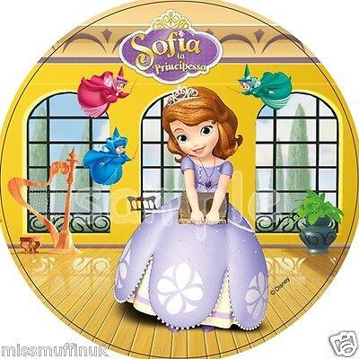 Essbar Tortendeko Sofia die 1. Erste Prinzessin Tortenaufleger NEU Party Deko  ()