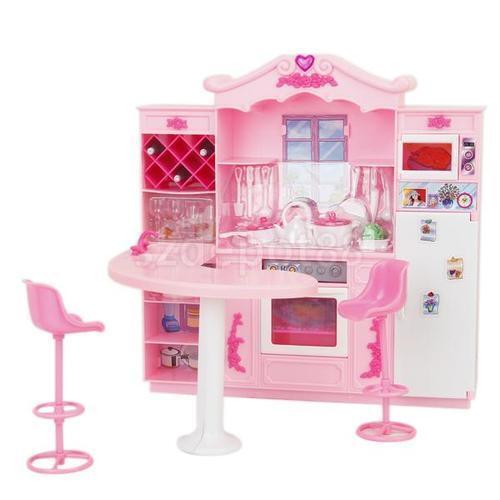Barbie doll furniture ebay for Cuisine bois toys r us