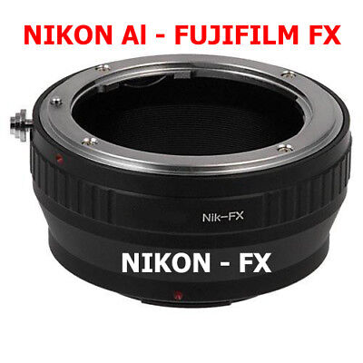 Nikon Ai - Fujifilm Fx Adaptador Objetivo Al Lente de A Cámara