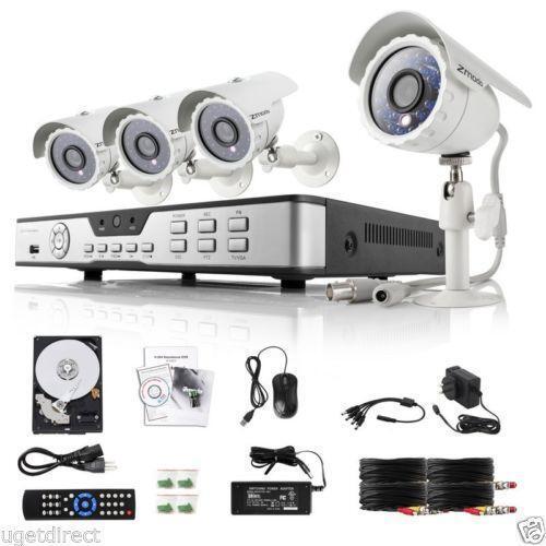 4 Camera Security System Ebay