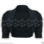 Girls Black Bolero