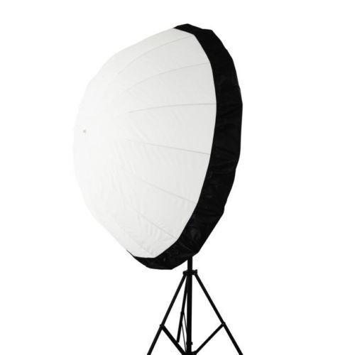 Selens 105cm White Diffusion Translucent Parabolic Umbrella +  Black Cover Photo