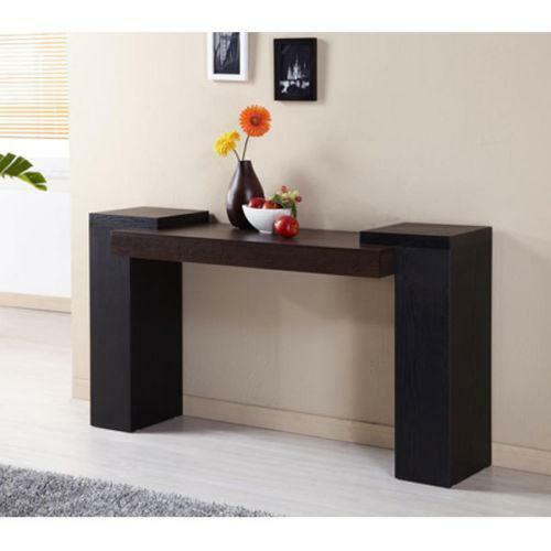 Modern Entryway Tables: Modern Black Console Table