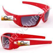 Mens Red Lens Sunglasses