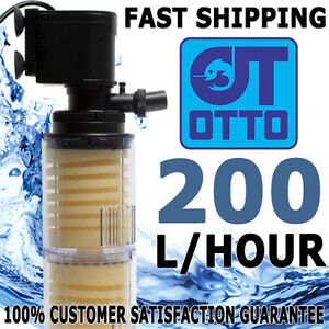 OTTO Internal Aquarium Power Head Sponge Filter 200 LPH Fish Tank Filtration