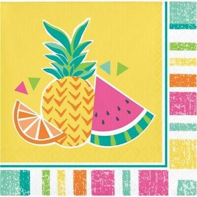 - Summer Fruit Beverage Napkins Pineapple Watermelon Orange Party Decorations