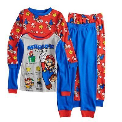 Super Mario Outfits (Boys SUPER MARIO Sz 8 PAJAMAS Luigi Yoshi One-up OUTFIT One Set COTTON ~)