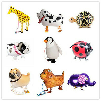 Animal Kids Walking Foil Pet Balloon Helium Children Party Birthday Decor LY