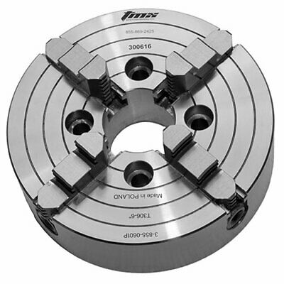 Toolmex 6 Forged Body 4 Jaw Independent Plain Back Lathe Chuck Made In Poland