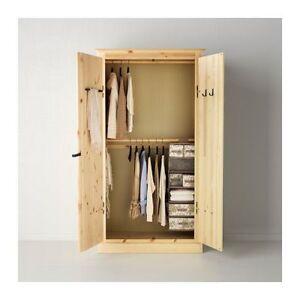 Ikea Fjell pine wardrobe