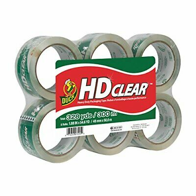 Duckhd Clear Heavy Duty Packing Tape Refill 6 Rolls 1.88inch X 54.6yard 441962