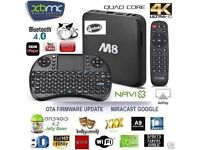 M8S + 2GHz Quad core 8GB 2GB Android TV BOX,free Movies,3PM Football Matches,UFC,PPVBOXING, Asian Tv
