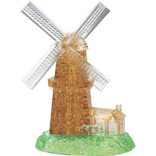 Neu Crystal Puzzle - Windmühle 3D Puzzles Kristallpuzzle Kristall Puzzle!169
