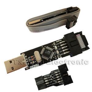 Usbasp-USBISP-AVR-Programador-USB-10-Pin-convertir-a-estandar-6Pin-Tablero-de-Adaptador