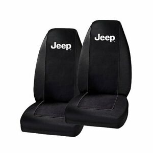 2 jeep universal fit bucket seat covers car auto wrangler cherokee liberty ebay. Black Bedroom Furniture Sets. Home Design Ideas