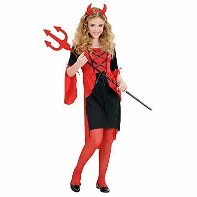 Girls Devil Girl Child 140cm Costume Medium 8-10 yrs 140cm for Halloween Vampi