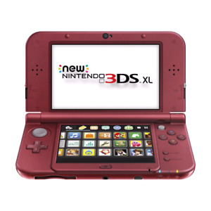Red Nintendo 3DS XL in mint condition w/box and games