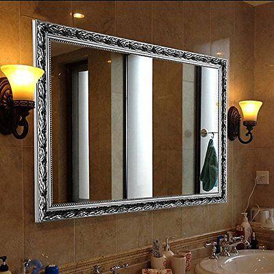 H&A Vintage Large Wall Mirror Bathroom Mirror In Baroque Silver 32