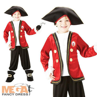 Captain Hook Halloween Costumes Child (Captain Hook Fancy Dress Boy's Disney Peter Pan Book Week Halloween Kids)
