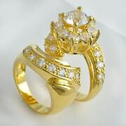 Yellow Gold CZ Wedding Sets