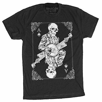 Men's Banjo Player Shirt - Skeleton Playing Banjo T-Shirt](Banjo Playing Skeleton)