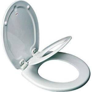 NEW Mayfair NextStep Adult Toilet Seat with Built-in Child Potty Training Seat, Round, White