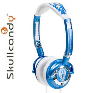 Skullcandy Lowrider Headphone, Blue & White