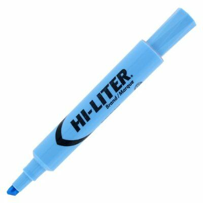 Avery Hi-liter Desk Style Highlighter - Chisel Marker Point Style - Light Blue