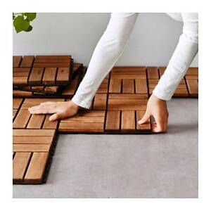 Outdoor Wood Tiles (IKEA) - 5 and 1/2 Packs