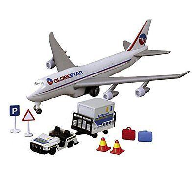 Dickie Toys Airport Team Flugzeug mit Rollfeldfahrzeug und Zubehör Spielzeug