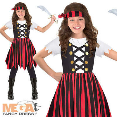 Ship Mate Cutie Girls Fancy Dress Caribbean Pirate Kids Book Day Costume Outfit  (Shipmate Cutie Kostümen)