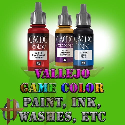 Vallejo Official Game Color Acrylic Paint and Washes / Inks Free Ship $35+
