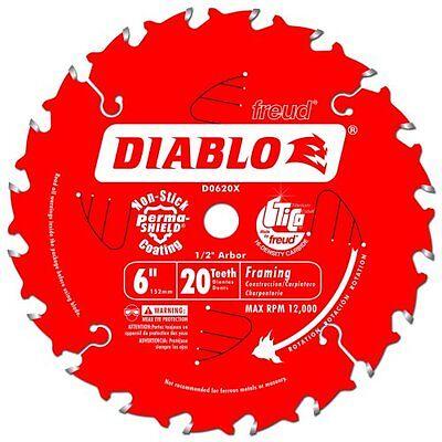 Freud D0620X Diablo 6-Inch 20 Tooth ATB Trim Saw Blade with 1/2-Inch Arbor