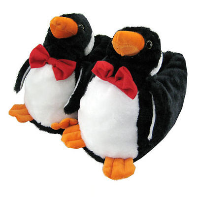 Penguin slippers to warm your feet