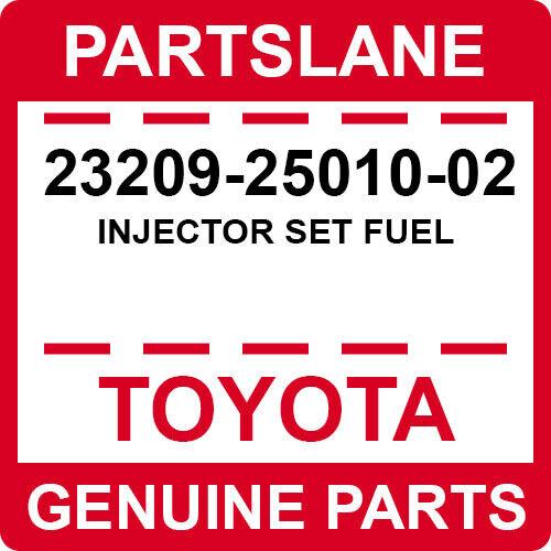 23209-25010-02 Toyota Oem Genuine Injector Set Fuel