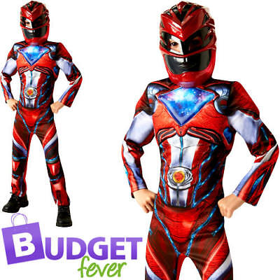 ger Boys Fancy Dress Superhero Movie Childrens Kids Costume (Deluxe Power Ranger Kostüm)