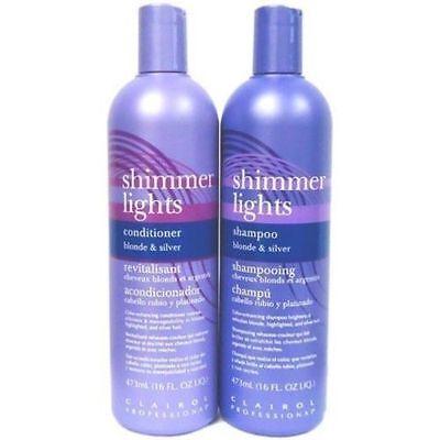 Clairol Silver Shampoo (Clairol Shimmer Light Shampoo & Conditioner for Blonde & Silver 16.oz)