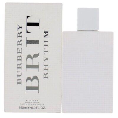 Burberry Brit Rhythm by Burberry 5 oz Body Lotion for Women New In Box 5 Oz Body Milk Lotion