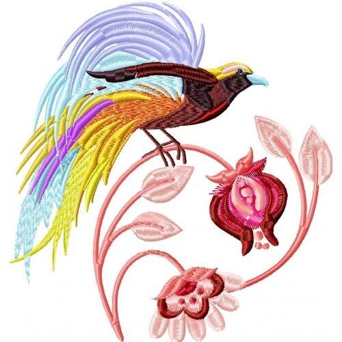 Embroidered Sweatshirt - Delicate Birds PE07