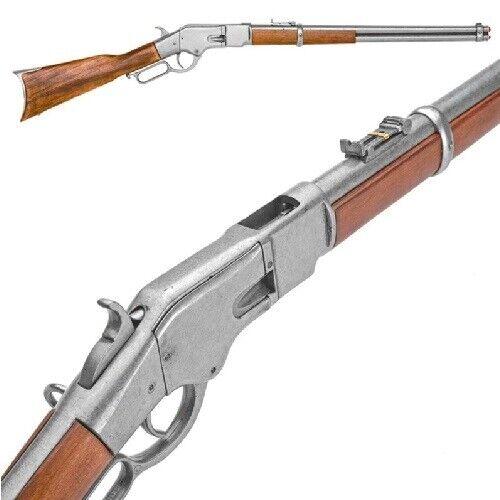 Denix Replica Winchester Model Lever-Action Rifle - Gray Finish