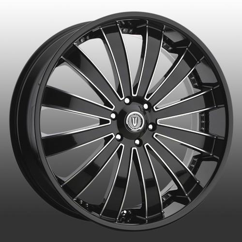 Versante 225 26 Inch Black M Ruedas y neumáticos caben 6 X 139 Escalade, Sierra, Tahoe
