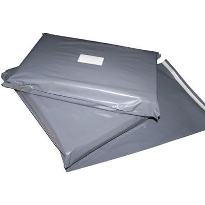 100pcs 12 x 16 Inch Grey Mailing Postage Poly Plastic Bags Free Postage in UK