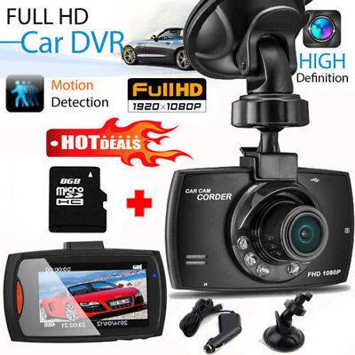 "1080p HD Dash Cam Wide Angle Night Vision Car DVR 2.4"" LCD Camera UK G Sensor"