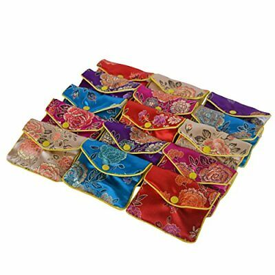 Baitaihem 15 Pack Jewelry Purse Pouch Gift Bags Chinese Silk Style Brocade Em...