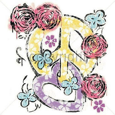 Rose Heart Peace Sign T Shirt All Sizes  463